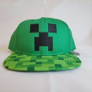 Jinx Minecraft Green Embroidered Creeper HAT Youth